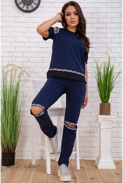 Cпортивный  костюм женский  167R134 цвет Темно-синий 58073