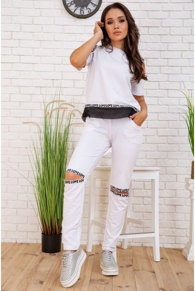 Cпортивный  костюм женский  167R134 цвет Белый 58067