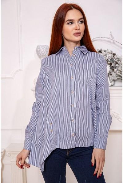 Блуза 115R221-2 цвет Бело-синий