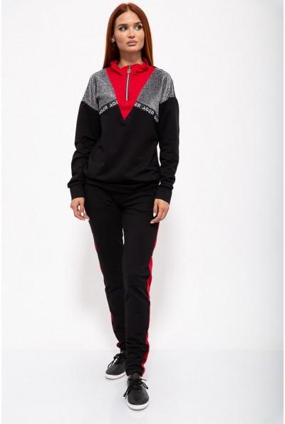 Спорт костюм жен. 102R070 цвет Черно-красный 36437