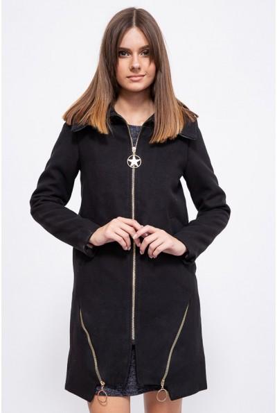 Черное демисезонное женское пальто 153R970