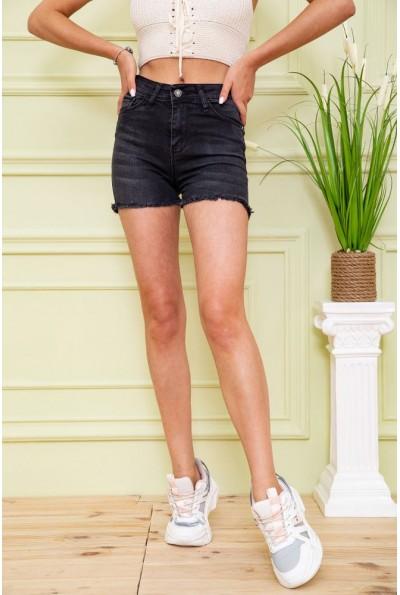 Джинсовые шорты женские 164R3925 цвет Черный 58997