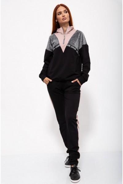 Спорт костюм жен. 102R070 цвет Черно-пудровый 36439