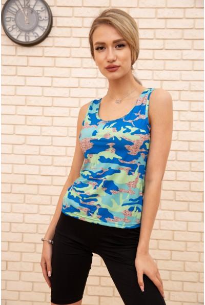 Майка женская 172R4000 цвет Сине-салатовый 55435