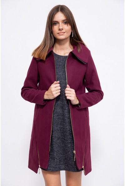 Пальто женское 153R970 цвет Сливовый