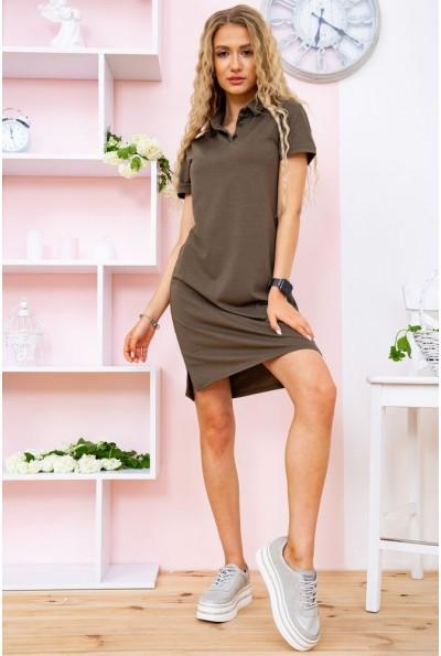Платье-поло   цвет хаки 119R414 58469