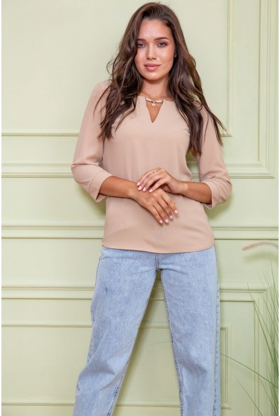 Блуза жен. цвет бежевый 172R4-2 61569