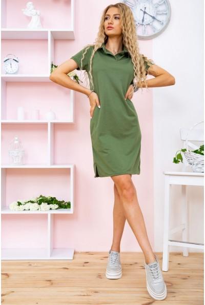 Платье-поло  119R414 цвет Зеленый 58463