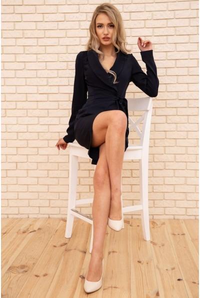 Костюм женский жакет с поясом и юбка карандаш цвет Темно-синий 167R1632-1 56219