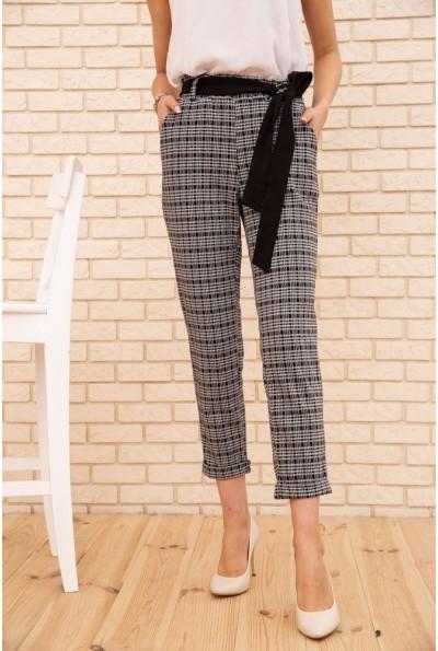 Женские укороченные брюки в клетку цвет Серый 172R9313-2 56082