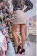 Женская кашемировая юбка бежевого цвета с карманами 102R024 цена 249.0000 грн