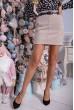 Купить Женская кашемировая юбка бежевого цвета с карманами 102R024