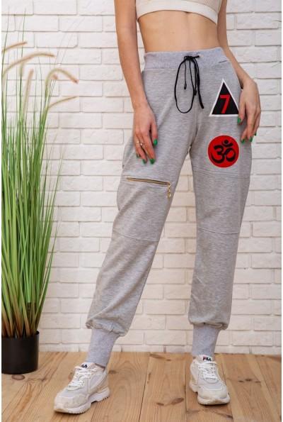 Спорт штаны женские 104R0008 цвет Светло-серый 57474