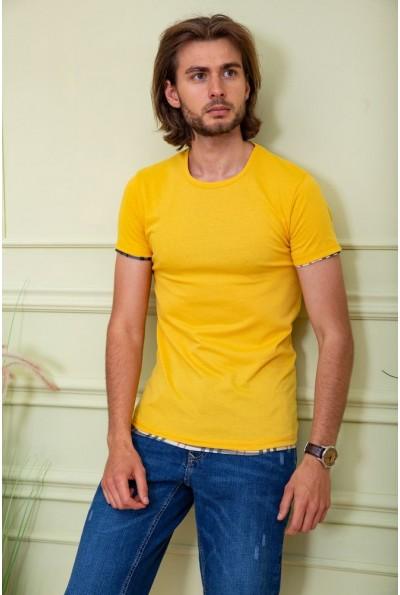 Футболка мужская 116R100 цвет Желтый 59454