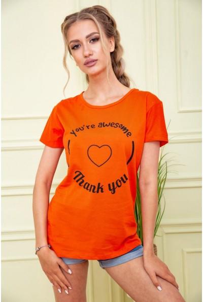 Футболка женская 119R190 цвет Оранжевый 58874