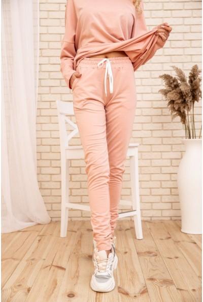 Спортивные  брюки  женские двухнитка 102R187 цвет Пудровый 53417