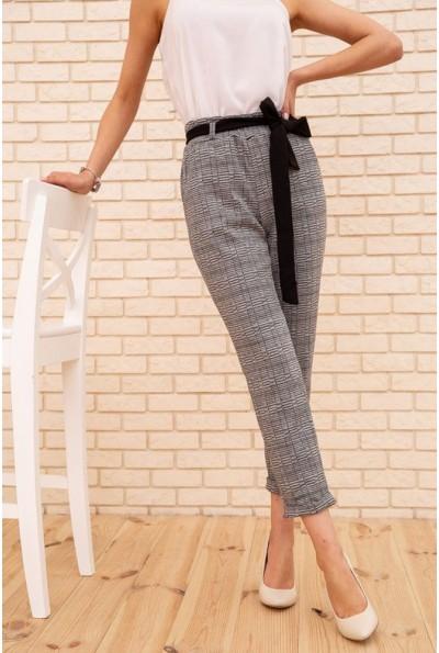 Женские укороченные брюки в клетку цвет Серый 172R9313-1 56077