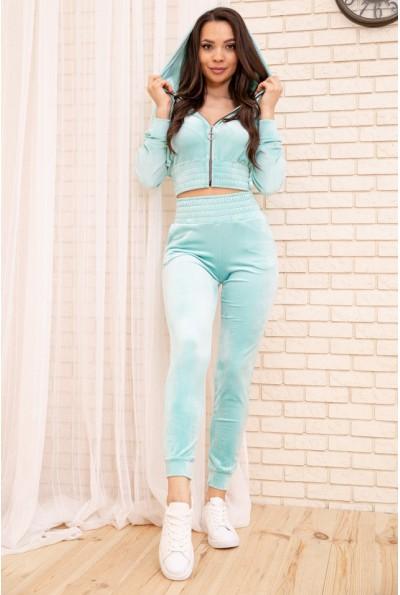 Спорт костюм женский велюровый 119R277 цвет Мятный