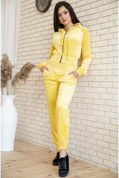 Спорт костюм женский велюровый 119R277 цвет Желтый 54617