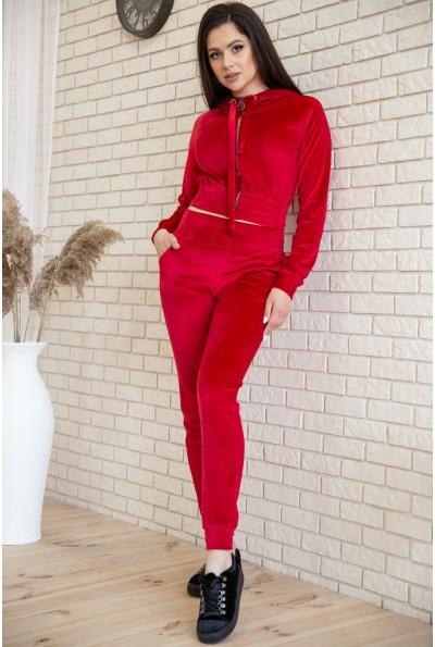 Спорт костюм женский велюровый 119R277 цвет Красный