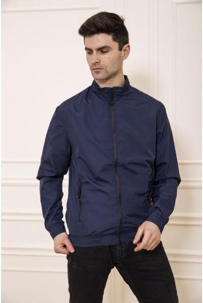 Синяя тонкая куртка мужская 131R047-02