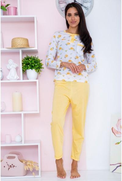 Пижама женская  цвет бело-оранжевый 129R7885 67308