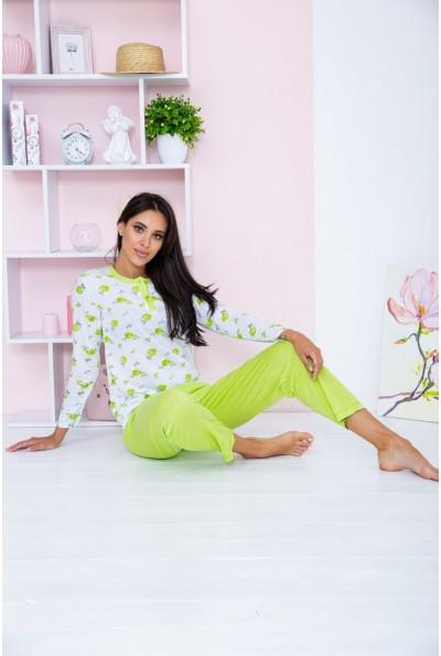Пижама женская  цвет бело-салатовый 129R7885 67310