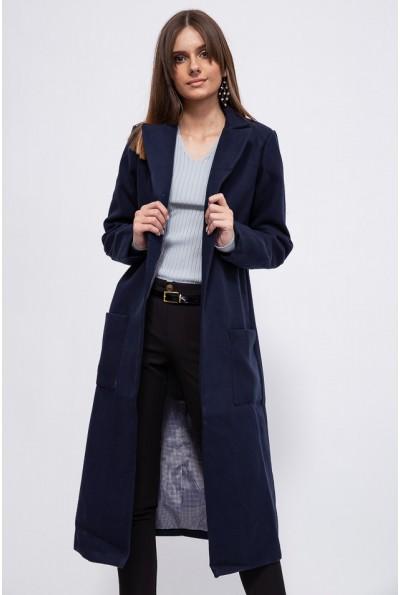 Пальто женское 153R622 цвет Темно-синий