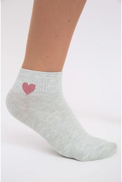 Носки женские, короткие, мятные 136R003