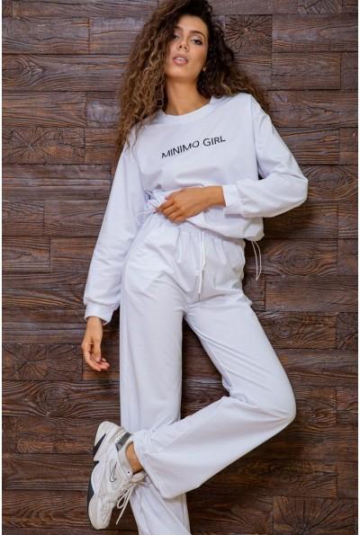 Белый спортивный костюм женский 129R7807 63214