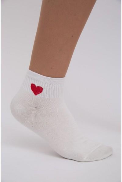 Носки женские, хлопковые, молочные 136R003