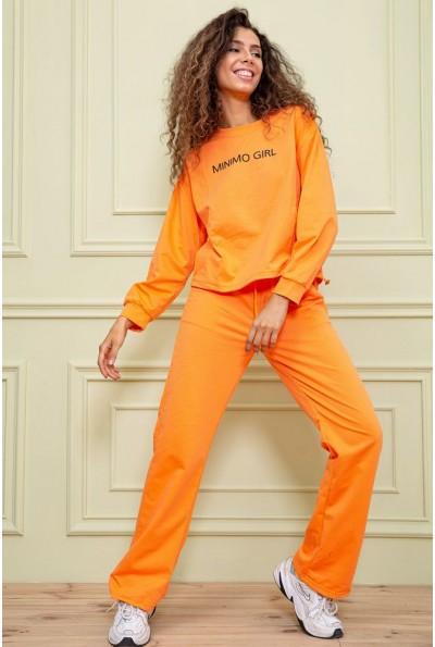 Оранжевый спортивный костюм женский 129R7807 63216