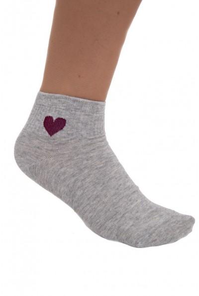 Носки женские, светло-серые, с рисунком 136R003