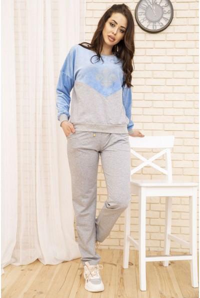 Женский повседневный костюм цвет Серо-голубой 167R29