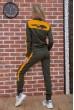 Спортивный костюм женский Ager на молнии 102R031 Хаки с желтым цена 1449.0000 грн