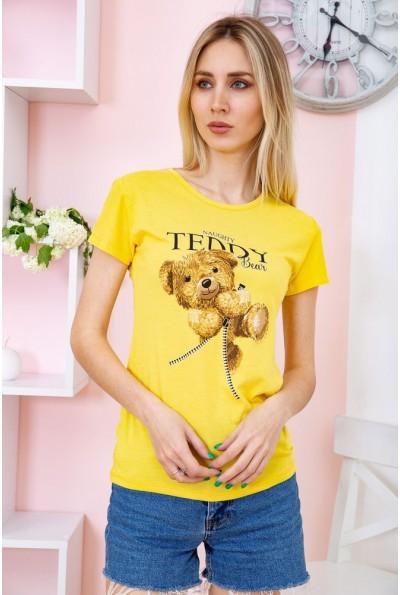 Футболка женская 119R197 цвет Желтый 58740