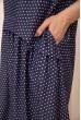 Свободное летнее платье с расклешенным низом Синее 167R1806 цена 849.0000 грн