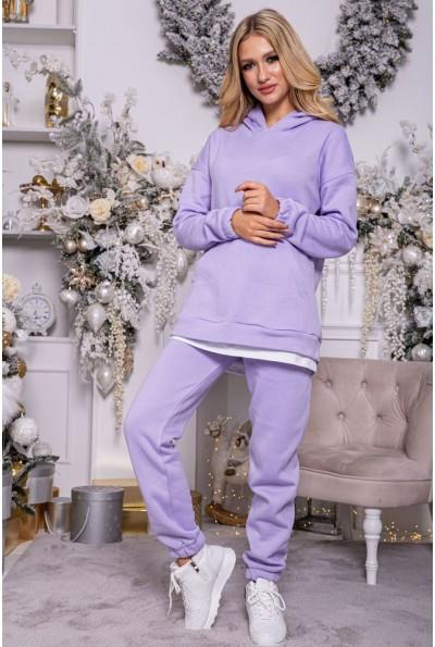 Спортивный костюм женский на флисе 102R107 цвет Сиреневый