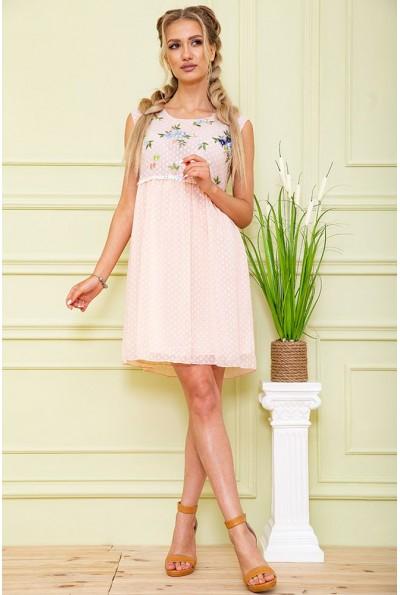 Платье 167R1226 цвет Светло-персиковый 59270