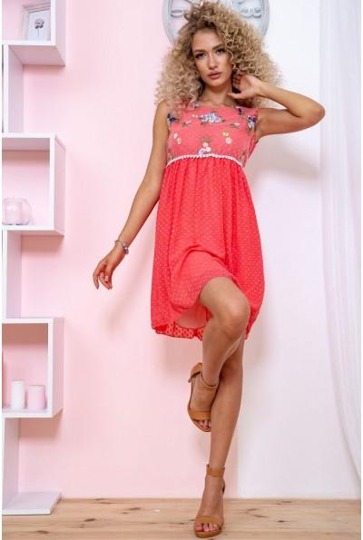 Платье  цвет коралловый 167R1226 59262