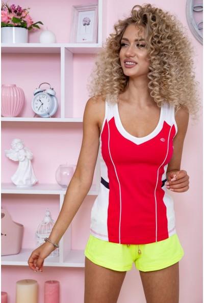 Майка женская для фитнеса  167R1295 цвет Розово-белый 59620