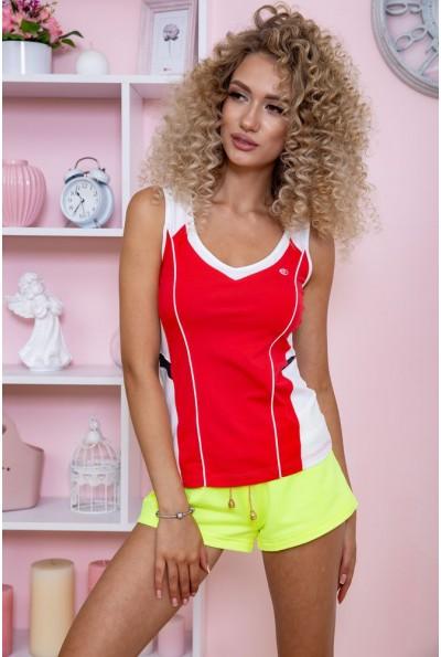 Майка женская для фитнеса  167R1295 цвет Бело-красный 59616