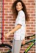 Футболка женская  свободного кроя   цвет белый 180R5451 стоимость