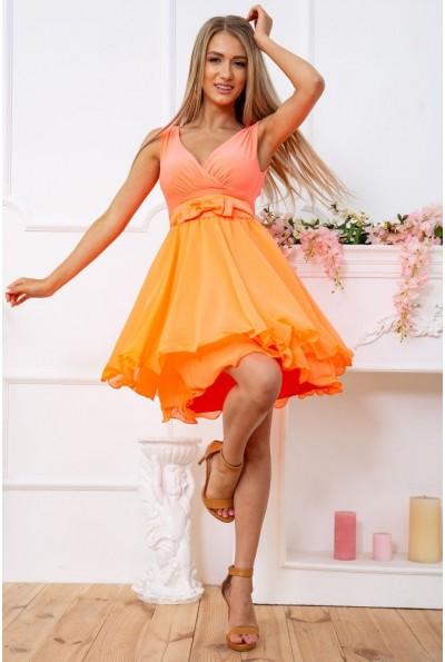 Платье 167R748-1 цвет Оранжевый 59678