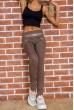Купить Лосины женские со вставками из эко-кожи цвет Мокко 172R726 55106