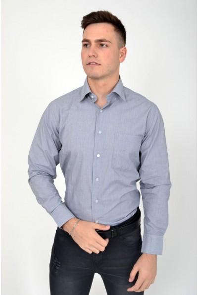 Рубашка серая классическая 9021-27