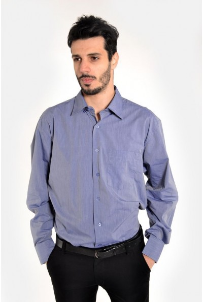 Рубашка мужская светлый джинс для офиса 9021-27