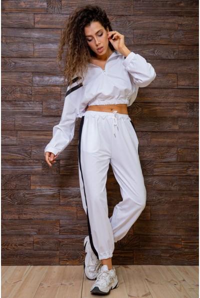 Женский спортивный костюм из двунитки белый 129R7695 63232