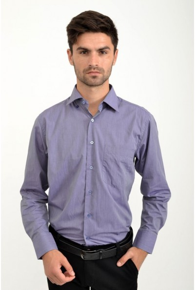 Рубашка мужская сиреневая для офиса 9021-27