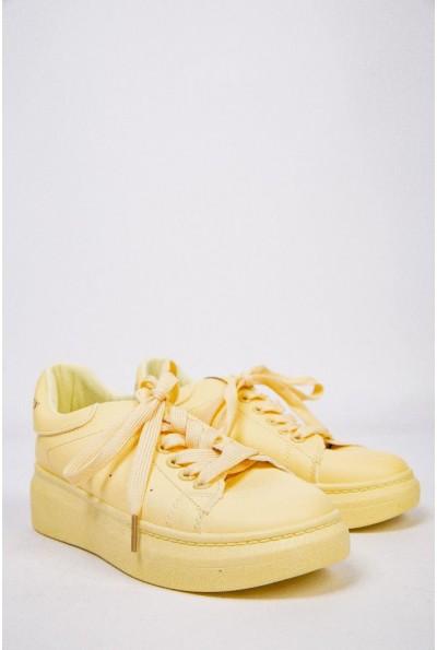 Женские кроссовки на платформе Желтые 129R271020-10 53586